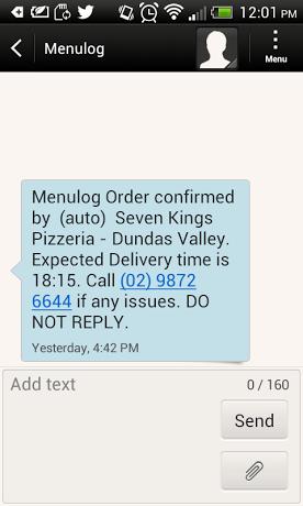 Menulog - Seven Kings Pizzeria - photo 4