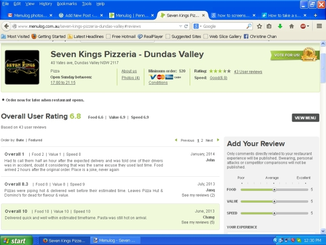Menulog - Seven Kings Pizzeria - photo 9